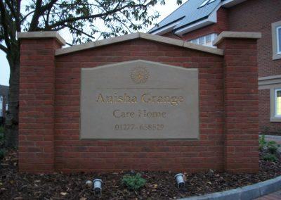 Anisha Grange Care Home Sign