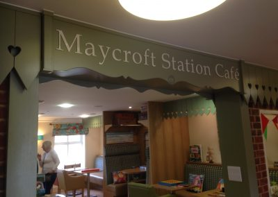 Cafe Flat Cut Lettering Signage