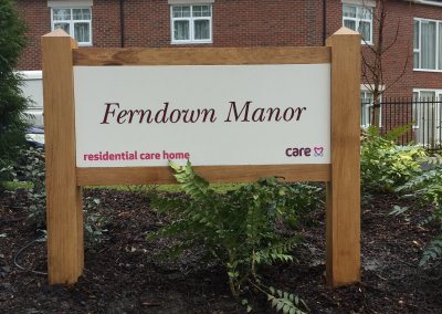 Care Home Post Sign