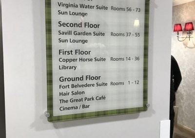 Care Home Wayfinding Sign