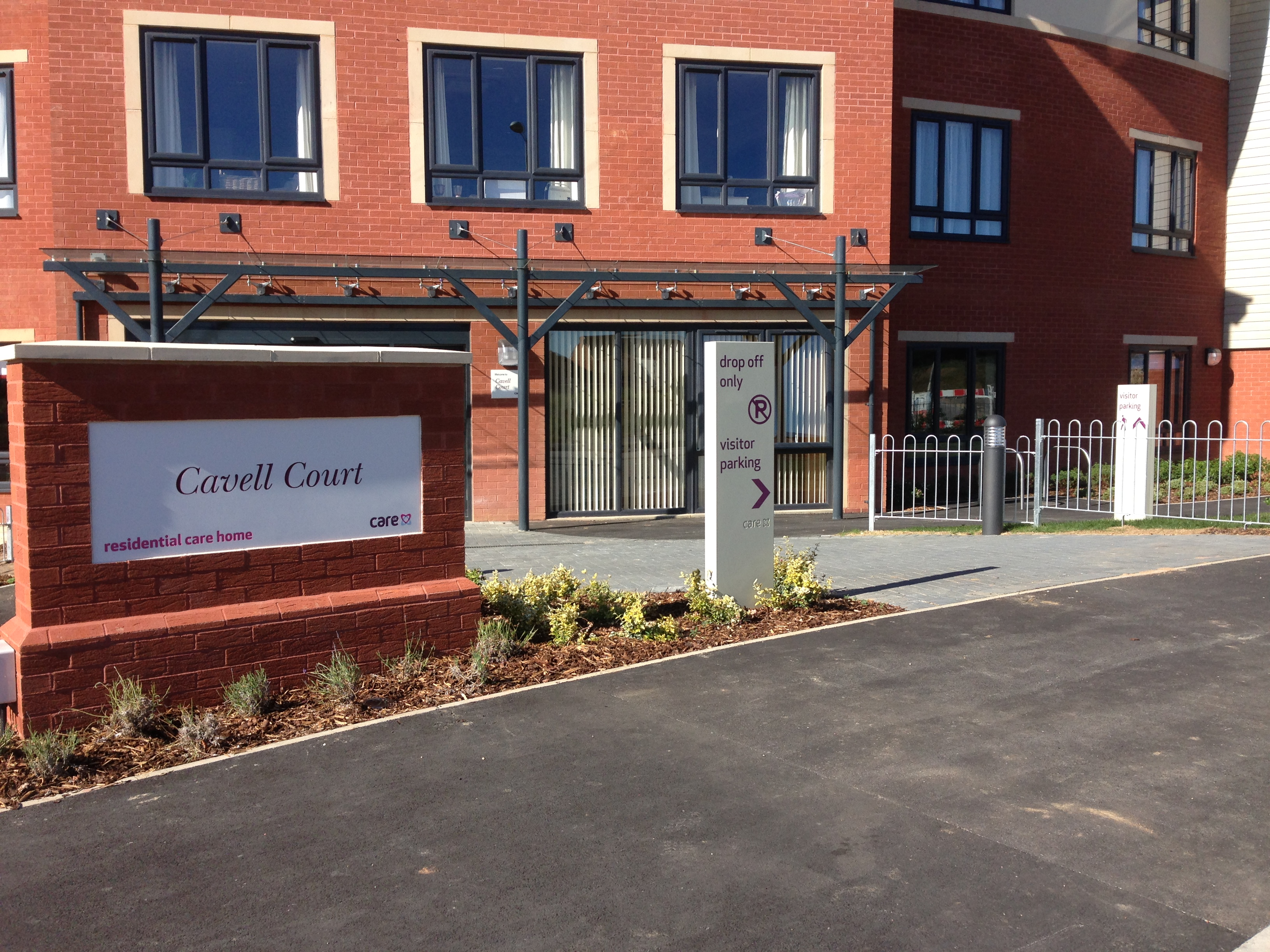 Care UK Entrance Sign and Wayfinding Signs
