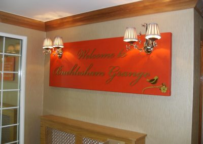Flat Cut Lettering Welcome Sign