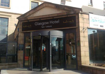 Glasgow Hotel Flat Cut Lettering
