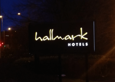 Hallmark Hotels Illuminated Sign