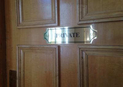 Brass Door Sign