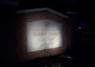 Lit Up Anisha Grange Sign