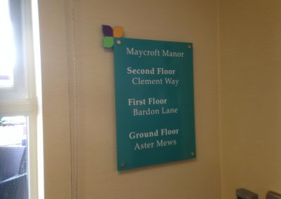 Maycroft Manor Wayfinding Sign