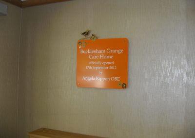 Open Plaque Sign