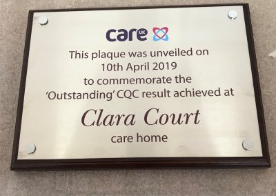 Outsanding CQC Rating Plaque