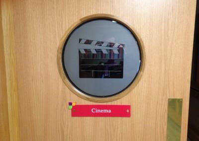 Cinema Door Sign