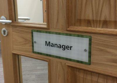 Manager Door Sign