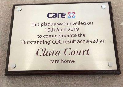 Outstanding CQC Plaque