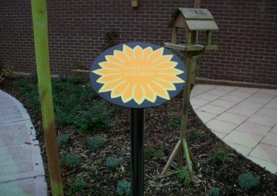 Sunbeam Garden Post Sign