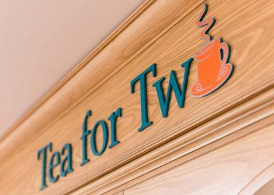 Tea Flat Cut Lettering