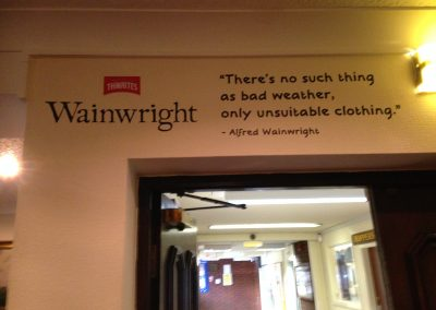 Wainwright Wall Graphic