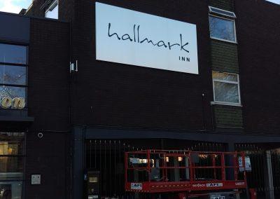 Wall Mounted Hallmark Sign