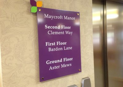 Wall Mounted Sign Maycroft Manor