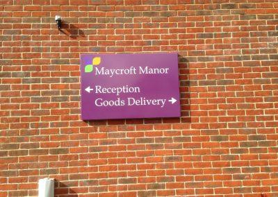 Wall Mounted Wayfinding Signage