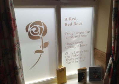Window Graphics Red Rose