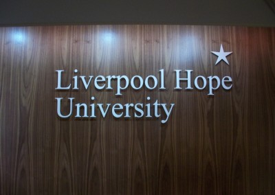 Stainlses Steel Letters for University