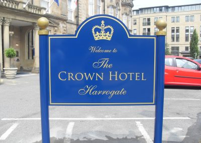 Crown Hotel Post Mounted Sign