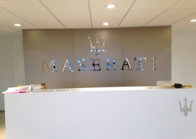 Maserati Flat Cut Lettering Sign