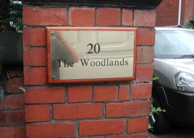 20 Woodlands Plaque