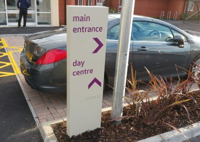 Directional Totem Car Park Sign for Care Home