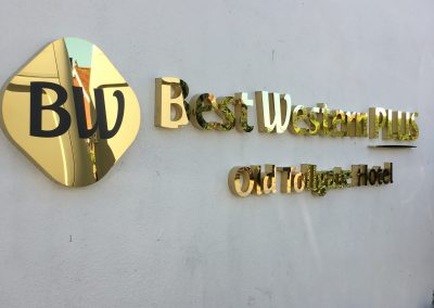 Built Up Letters in Brass