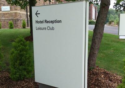Hotel Totem Sign