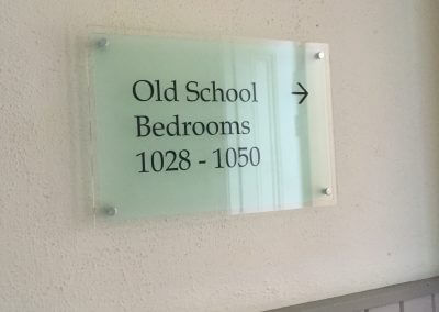 Bedrooms Acrylic Sign