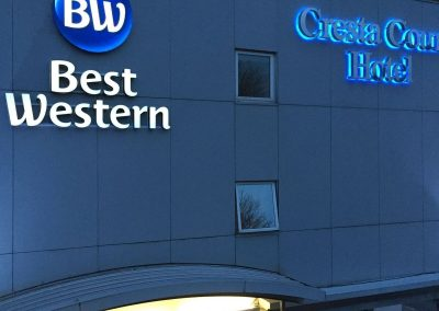 Best Western Illuminated Sign