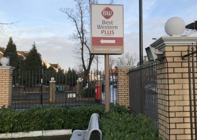 Best Western London Croydon Post Mounted Sign