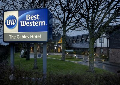 Best Western Post Mounted Sign