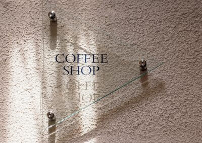 Coffee Glass Signage