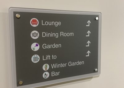 Dementia Friendly Wayfinding Sign