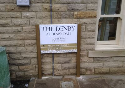 Denby Post Mounted Sign