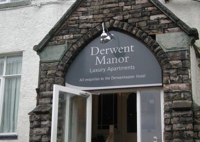Derwent Manor Hotel Sign