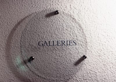 Galleries Glass Sign