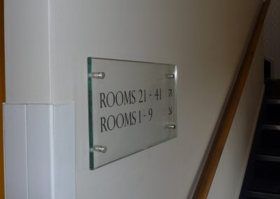 Glass Room Signs