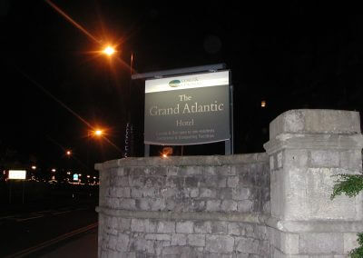 Grand Atlantic Hotel Post Mounted Sign