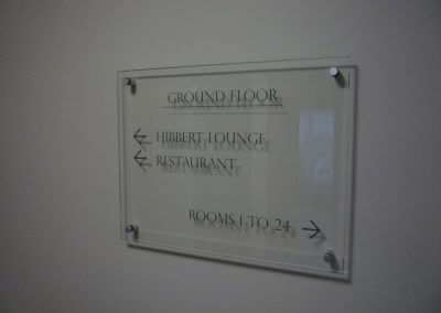 Ground Floor Glass Signage