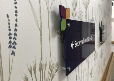 Hallmark Care Home Wayfinding Sign