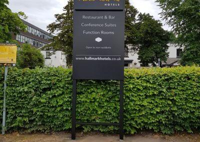 Hallmark Hotels Post Mounted Sign