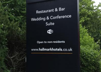 Hallmark Hotels Totem Signage