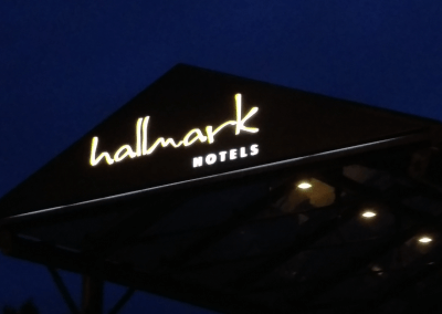Hotel Illuminated Sign