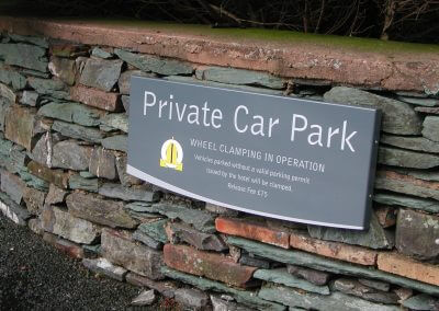 Hotel Private Car Park Sign