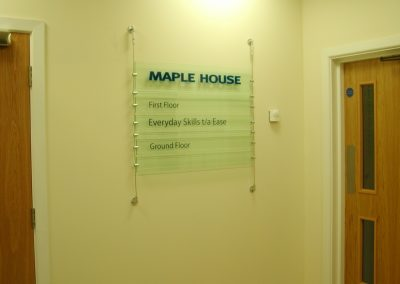 Maple House Acrylic Sign