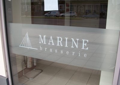 Marine Brasserie Window Graphics