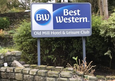 Old Mill Hotel & Leisure Club Post Mounted Sign